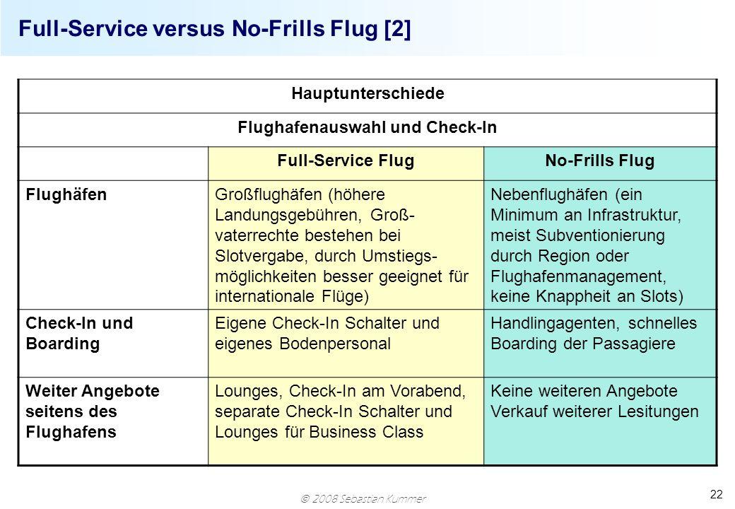 Full-Service versus No-Frills Flug [2]